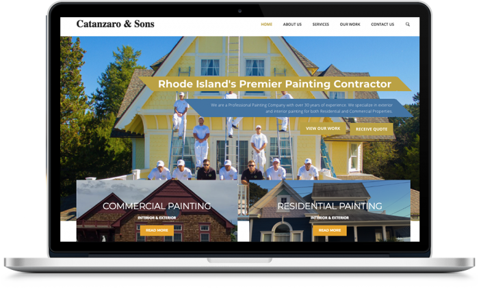 Website Design for Painting Company