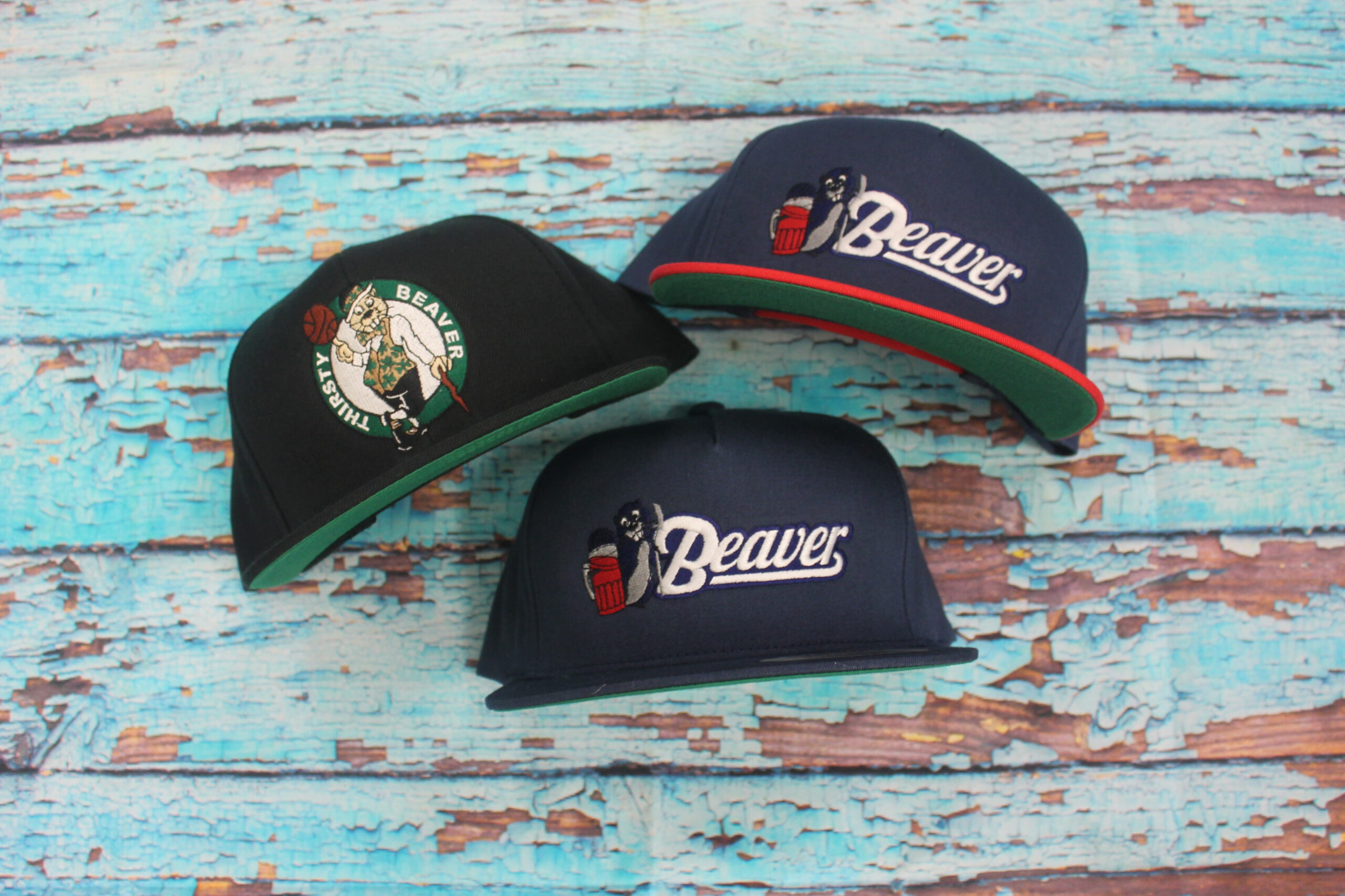 THIRSTY BEAVER EMBROIDERY HATS